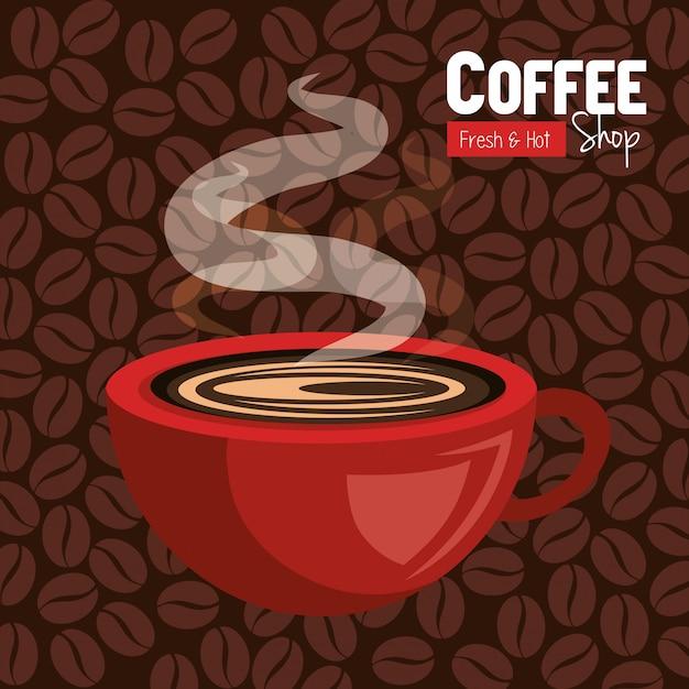 Café delicioso vector gratuito