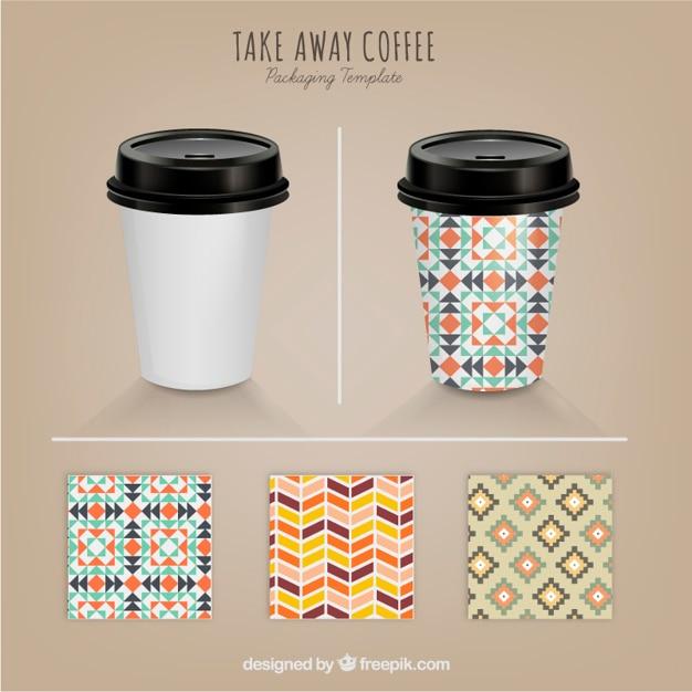 Caf para llevar con distintos patrones descargar for Cafe para llevar