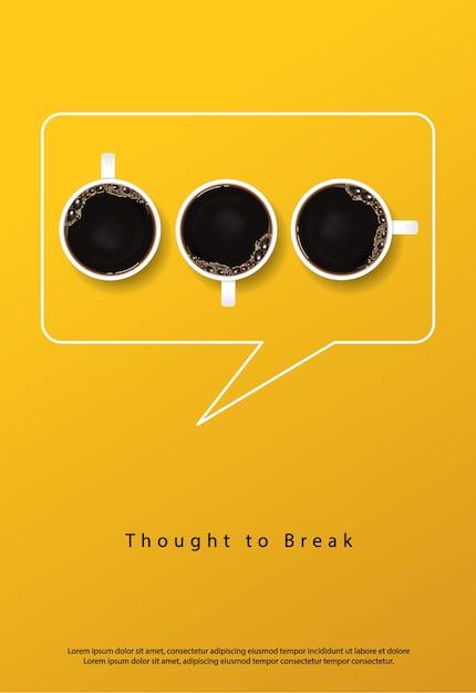 Café poster publicidad flayers Vector Premium