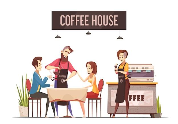 Cafetería vector gratuito