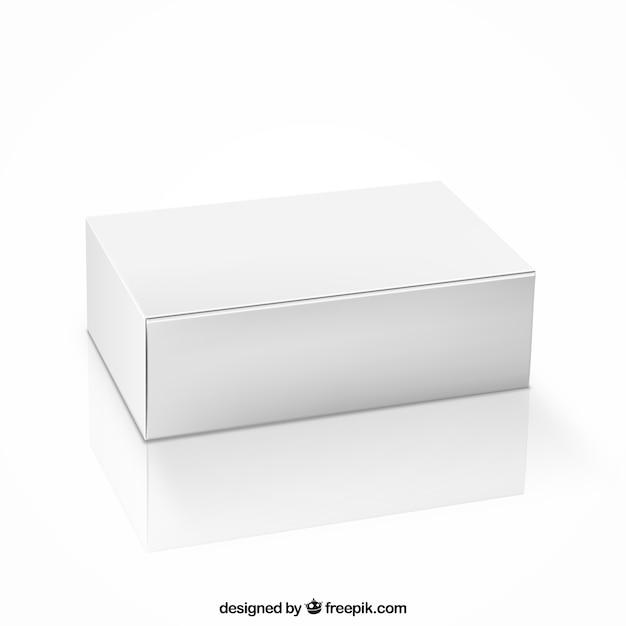 Caja en blanco vector gratuito