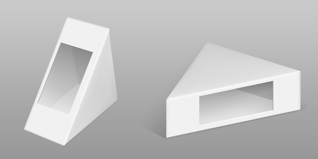 Caja de cartón triangular para juego de sándwich vector gratuito