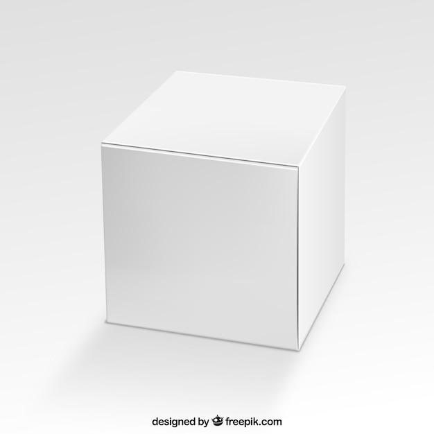 Caja cuadrada en blanco vector gratuito