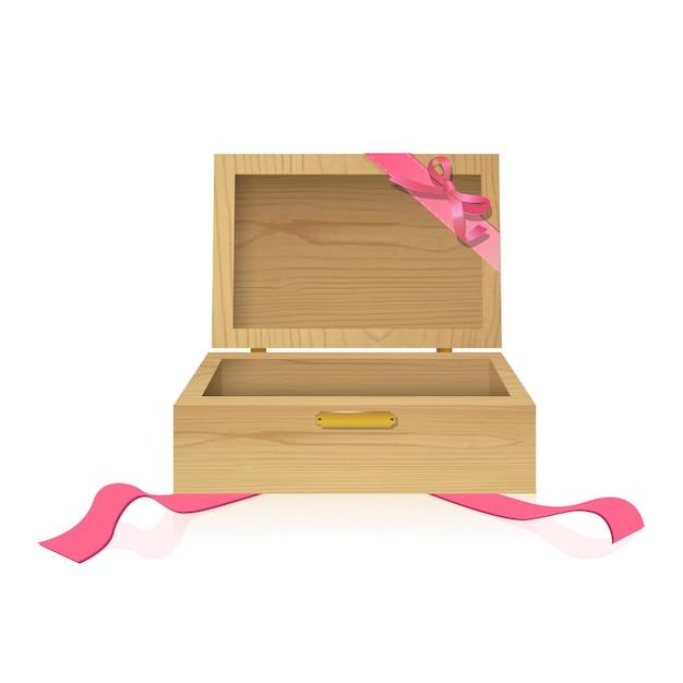 Caja de regalo de madera descargar vectores gratis - Cajas de madera para regalo ...