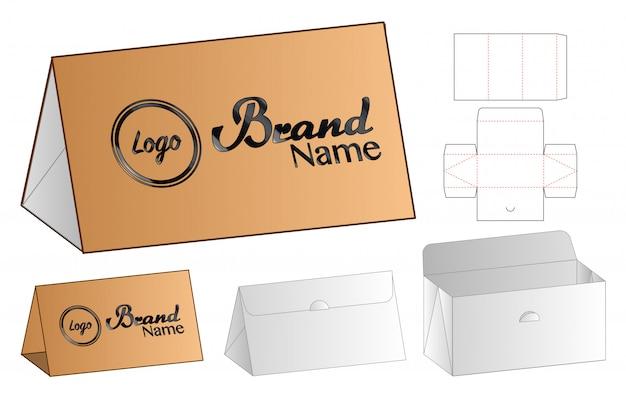 Caja de embalaje troquelado diseño de plantilla. Vector Premium