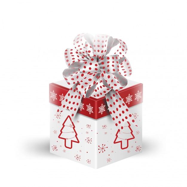 Caja de regalo en blanco Vector Premium