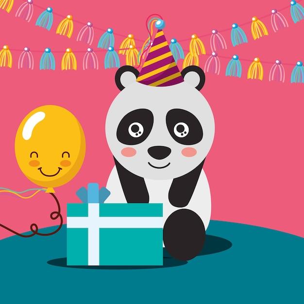 Caja de regalo kawaii globo lindo panda  3a240dbb091