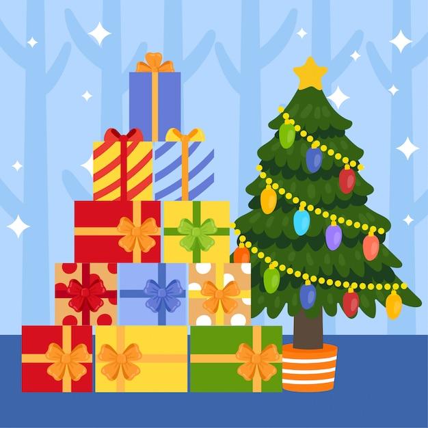 Dibujos De Navidad Regalos.Caja De Regalo De Navidad De Dibujos Animados Lindo