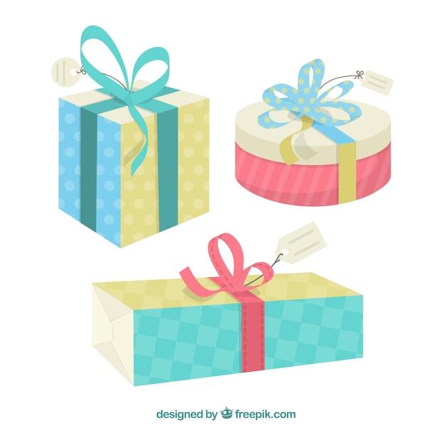 Cajas de regalo de dibujos animados descargar vectores for In regalo gratis