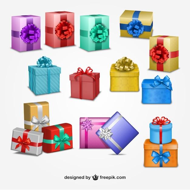 cajas de regalos de navidad descargar vectores gratis