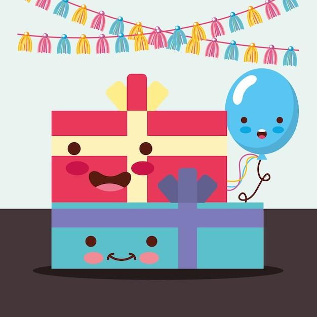Cajas de regalo kawaii decoración de dibujos animados de globo de arco  2b5cdc074e0