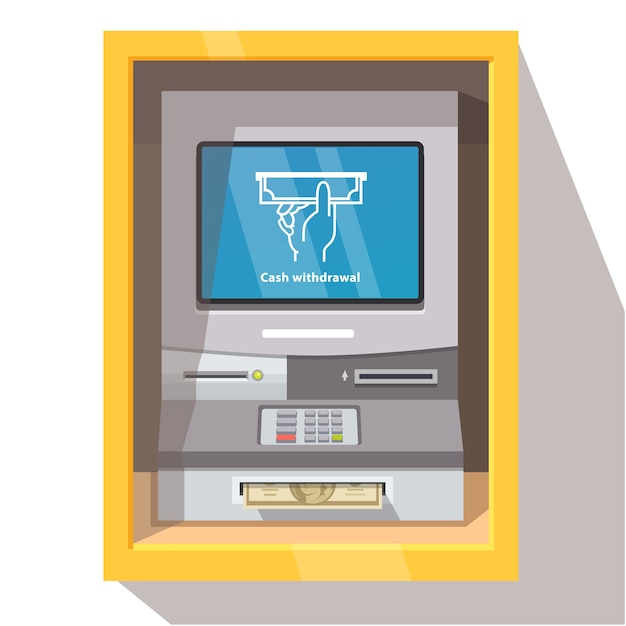 Cajero autom tico de la calle con la operaci n actual for Como cobrar en un cajero automatico