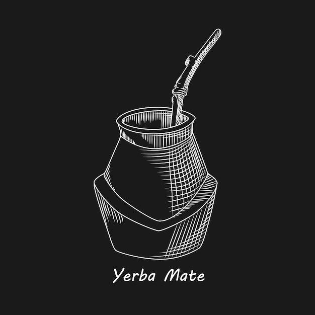 Conjunto De Rama De Té De Yerba Mate Calabaza Y Bombilla