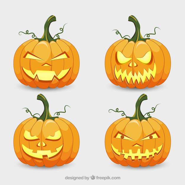 Calabazas espeluznantes para celebrar halloween | Descargar Vectores ...