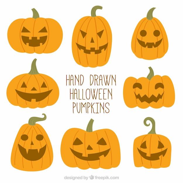 Calabazas de halloween dibujadas a mano | Descargar Vectores gratis