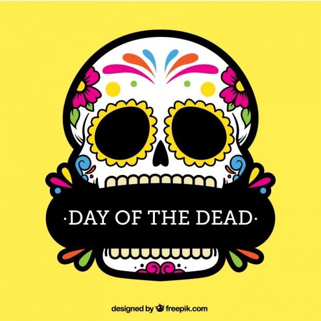 Calavera Colorida Del Día De Los Muertos Descargar Vectores Gratis