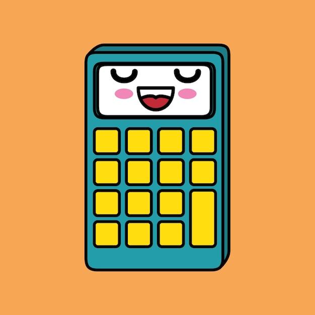Calculadora Matemática Kawaii Descargar Vectores Premium