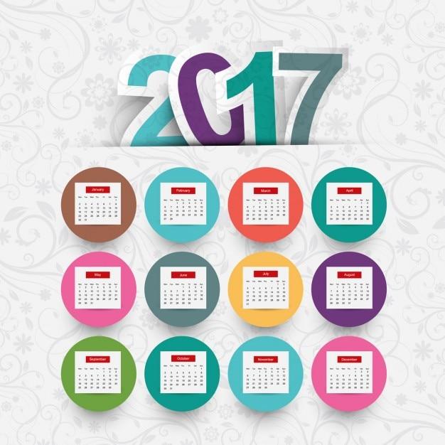 Resultado de imagen para calendario color 2017 dibujo