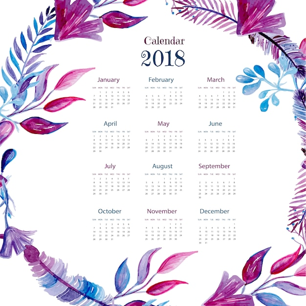1 Year Calendar On One Page 2017
