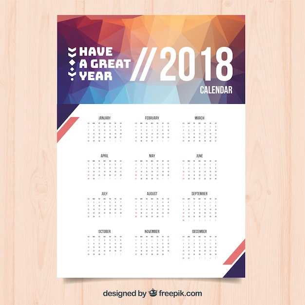 Calendar Design Freepik : Calendario moderno descargar vectores gratis