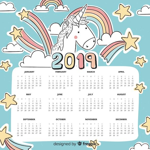 Calendario 2019 Rosa Portugues.Calendario 2019 Descargar Vectores Gratis
