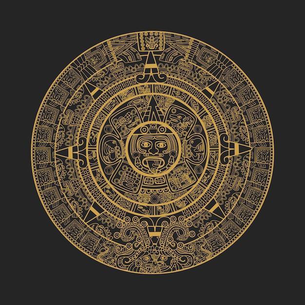 Calendario Azteca Vectores.Calendario Maya Azteca Descargar Vectores Premium