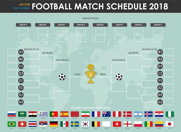 Futbol Calendario.Calendario De Partidos De Copa De Futbol 2018 Descargar Vectores
