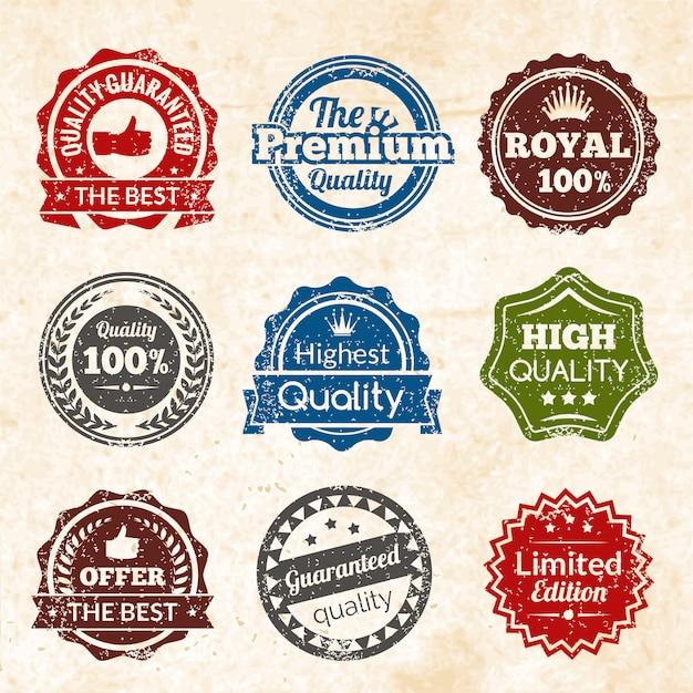 Calidad premium vintage vector gratuito