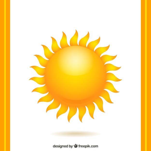 Cálido sol vector gratuito