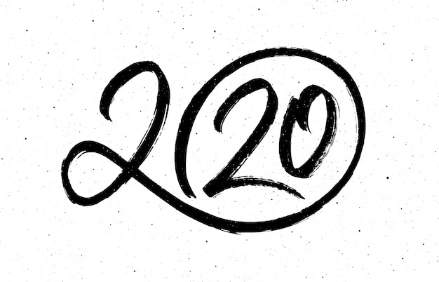 Caligrafía para 2020 año nuevo de la rata Vector Premium