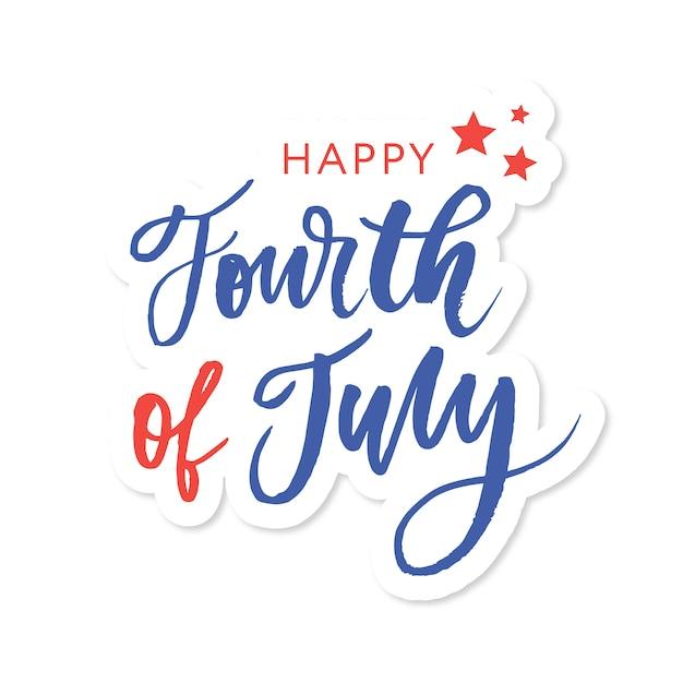 Caligrafía feliz día de la independencia Vector Premium