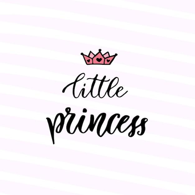 Caligrafía Moderna Del Vector Pequeña Princesa Frase