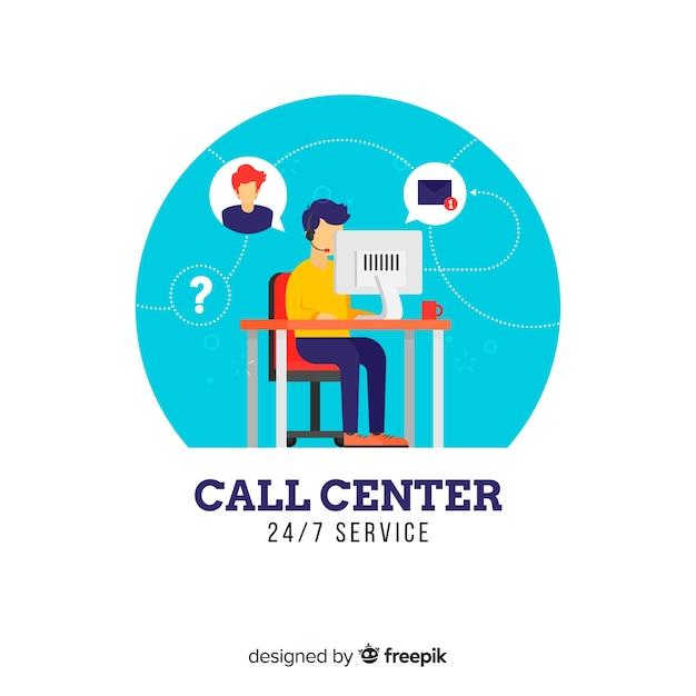 Call center vector gratuito