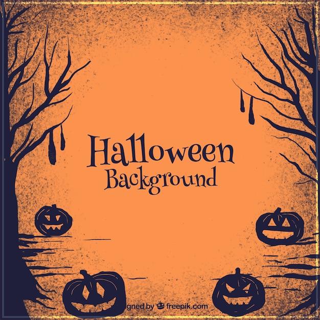 Callejón siniestro en halloween vector gratuito