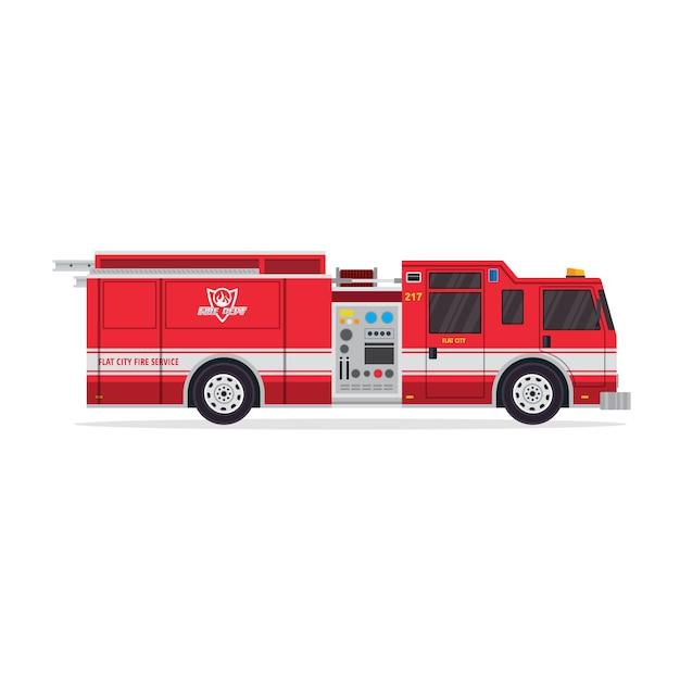 Camión de bomberos aislado   Descargar Vectores Premium