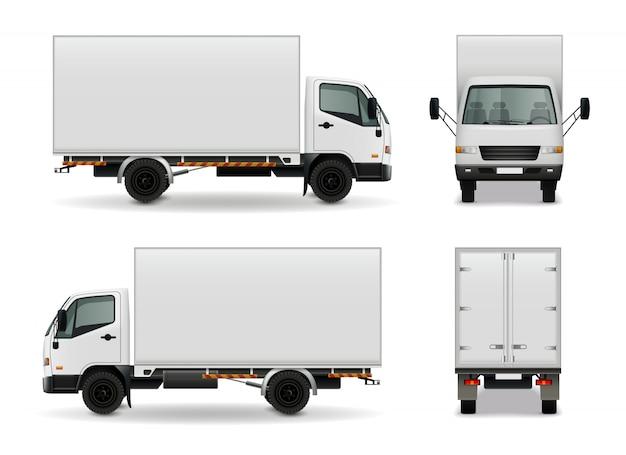 Camión vector gratuito