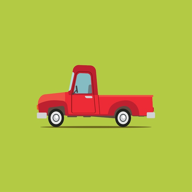 Camioneta Clásica De Dibujos Animados Vector Premium