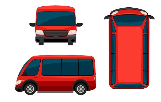 Una camioneta roja vector gratuito