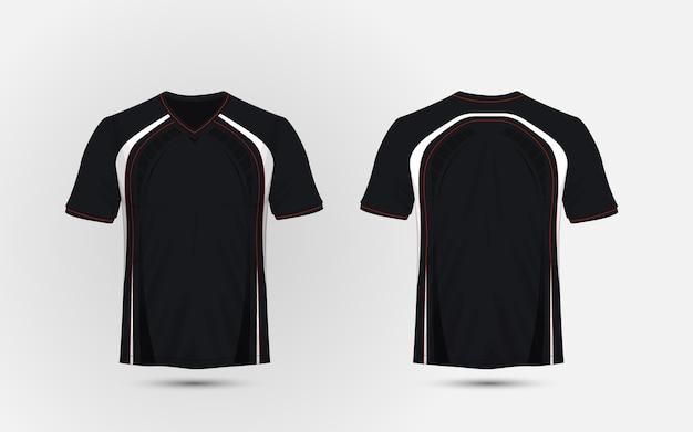 Camiseta deportiva en blanco y negro   Descargar Vectores