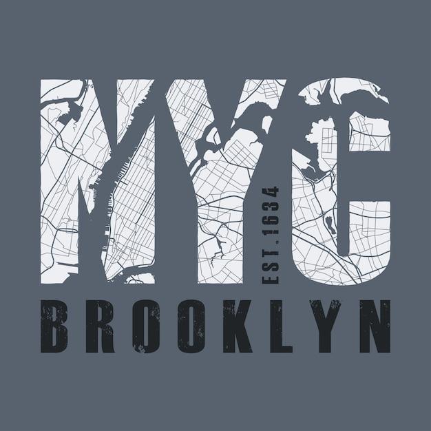 Camiseta estampada de nueva york. camiseta gráficos sello etiqueta typograp Vector Premium
