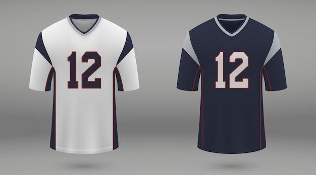Camiseta de fútbol americano realista Vector Premium