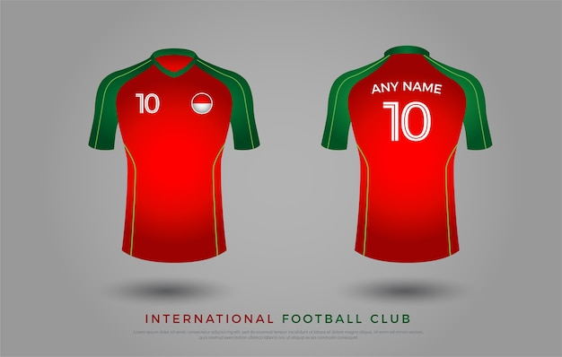 Camiseta de fútbol uniforme de diseño conjunto de kit de fútbol. plantilla  de camiseta de fútbol para club de fútbol  f7e551499dc1f
