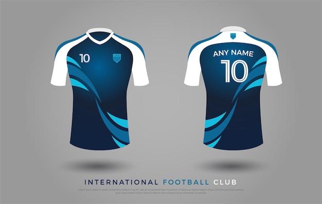 Camiseta de fútbol uniforme de diseño.  030f0288228f6