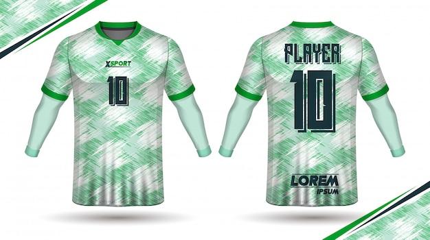 Camiseta de futbol Vector Premium
