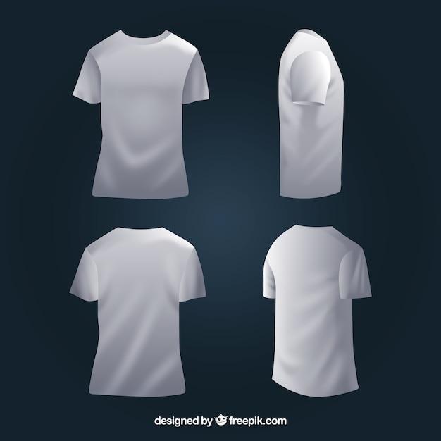 Camiseta de hombre en diferentes perspectivas con estilo realista ... 43a9d4ff753