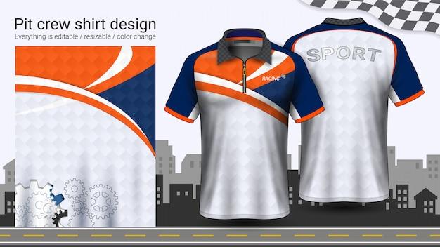 Camiseta polo con cremallera Vector Premium