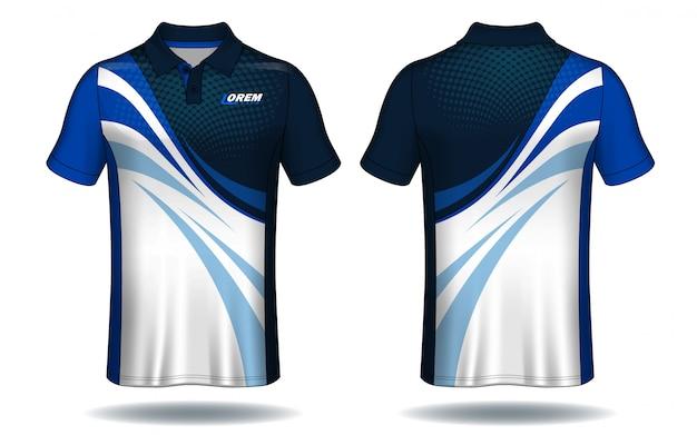 Camiseta de polo de diseño, plantilla de jersey deportivo. Vector Premium