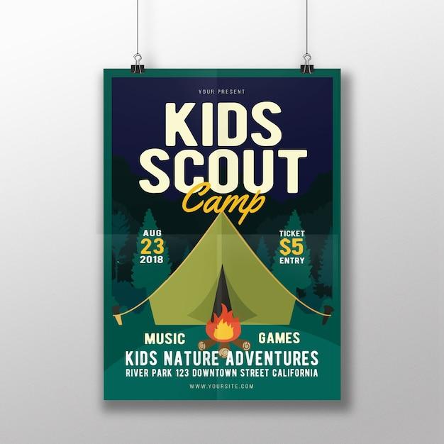 Campamento scout Vector Premium