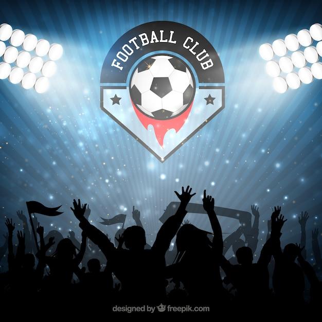 Campeón club de fútbol vector gratuito
