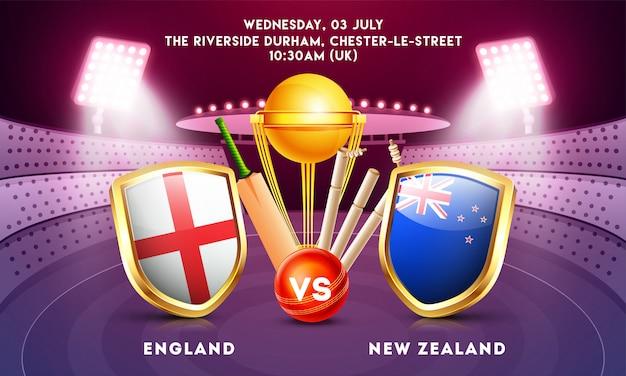 Campeonato mundial de cricket concept. Vector Premium